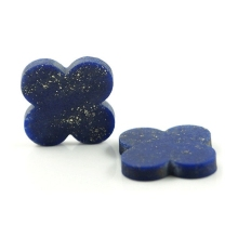 8*8 mm 50 Piece/a lot Four-leaf clover blue lapis lazuli gemstone hot sale