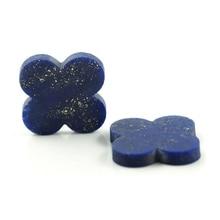 8*8 mm 50 Piece/a lot Four-leaf clover blue lapis lazuli gemstone hot sale