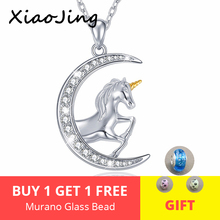 Fashion New 100% 925 Sterling Silver Loving Horse Animal With CZ Pendant Necklace for Women Jewelry Mother Gift free shipping цена в Москве и Питере