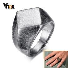 Vnox окисленное массивное кольцо для мужчин винтажное Ретро