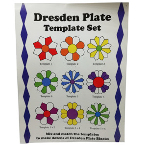 Image 4 - patchwork ruler dresden plate template set  for domestic sewing machine parts  1set= 7pcs  # DPT 7