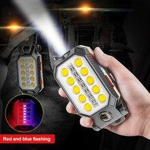 Lampe de travail COB Rechargeable USB 40W, lampe de poche Portable étanche, lanterne de Camping, Design magnétique avec affichage de puissance