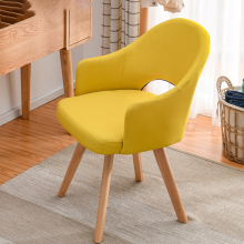 Modern Wood Restaurant Economical Backrest Chairs Nordic Scandinavian Style Lazy Dinning Chairs Creative Home Bedroom IMS Stools