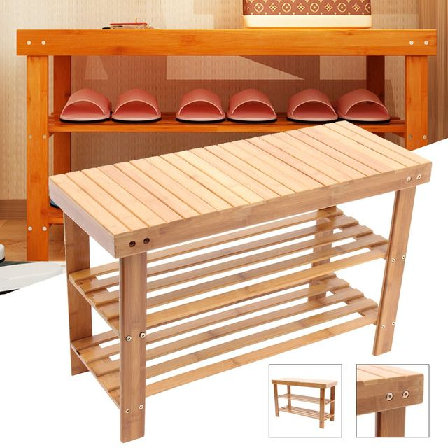 Wooden Entryway Shoe Bench 2