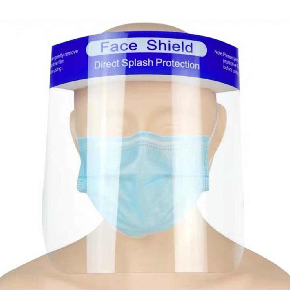 10PCS Full Face Masks Anti-droplets Anti-fog Dust-proof Face Shield Protective Cover Transparent Face Eyes Protector Safety Mask