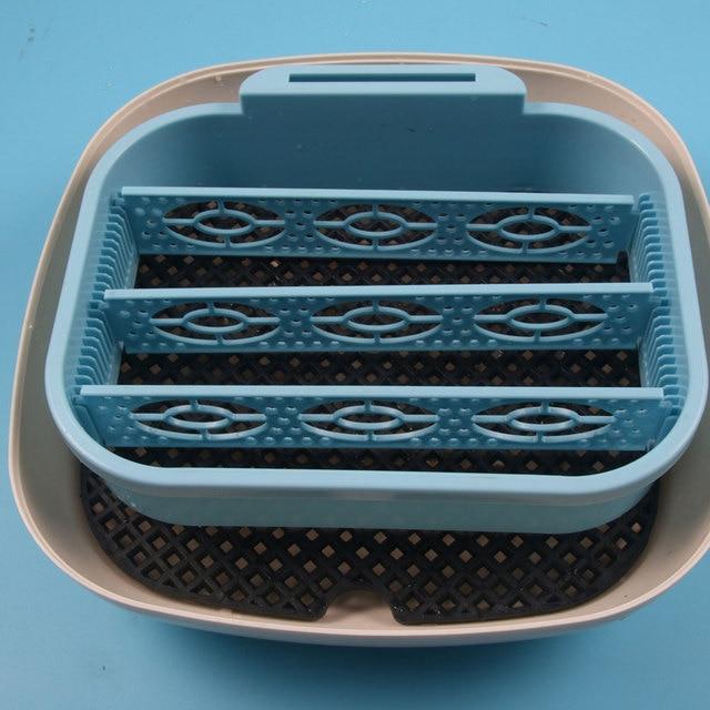 16 Grids Mini Eggs Poultry Hatcher Chick Hatchery Fully Automatic Egg Incubator with Original EU/US Plug Sky-Blue/White