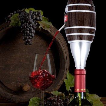 W kształcie beczki wino nalewaki karafka elektryczny cydr Aerator pompy wino butelka na sok nalewak Aerator likier nalewak akcesoria barowe tanie i dobre opinie CN (pochodzenie) Ekologiczne Electric fast hangover decanter Karafki