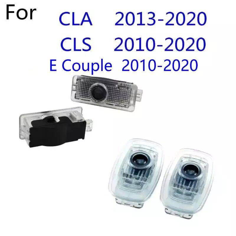 2 шт., Автомобильные светодиодные ламсветильник для дверей Mercedes Benz CLA AMG c117 c118 w118 CLS C257 W257 2010-2020 2018