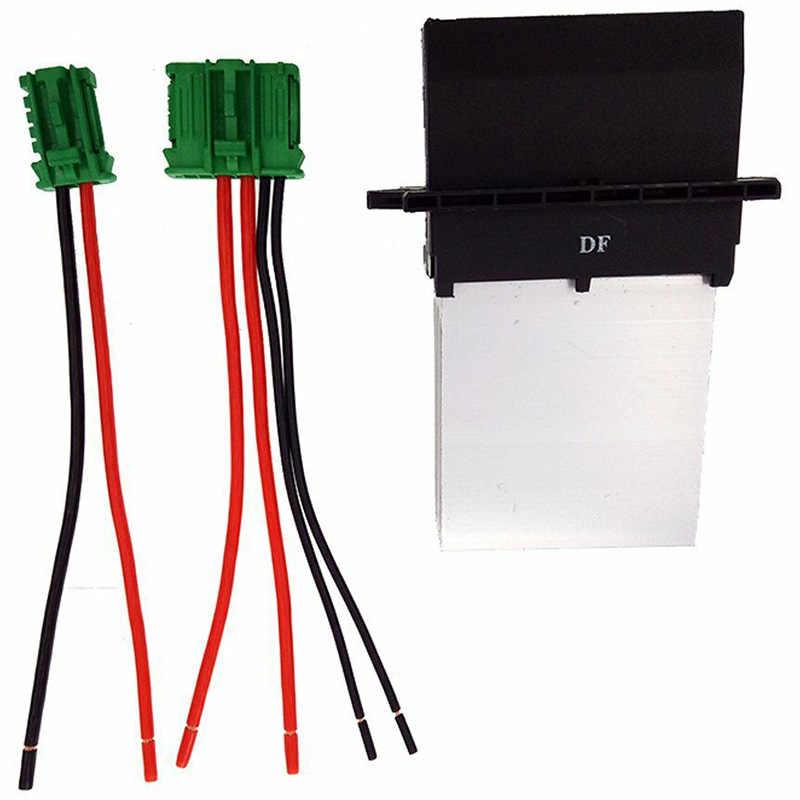 El calentador de aire acondicionado ventilador resistencia + conector/conector de alambre de 7701048390 para Citroen C2 C3 C5 Peugeot 406, 107, 207, 607, 6441 L2