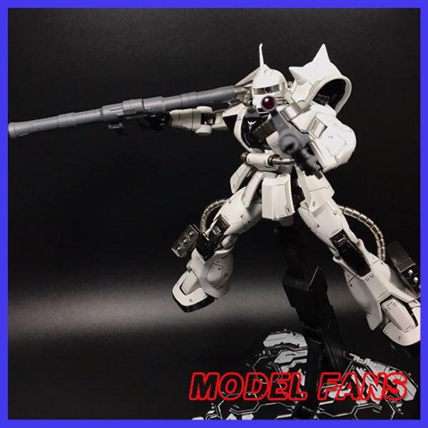 MODEL FANS in stock METAL SOLDIER metal build  MB gundam 1/100 WHITE WOLF zaku II alloy robot action figureAction & Toy Figures   -