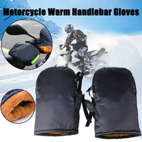 Motorcycle Handlebar Gloves With Reflective Strip Windproof Waterproof Warm Bike Motorbike Handle Bar Hand Cover