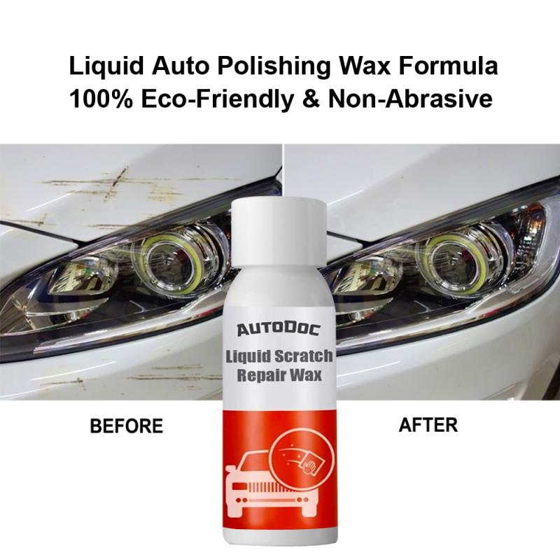 Car Scratch  Repair Liquid Remove Stain Scratch Repair Agent No Trace Car Polish Cleaning Tool Liquid Scratch Repair Wax TSLM1
