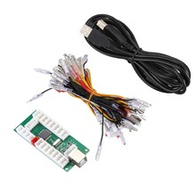 USB Encoder PC Joystick Chip USB to PC Arcade DIY Kit for PC/ Android / PS3 / KOF Game Kit(China)