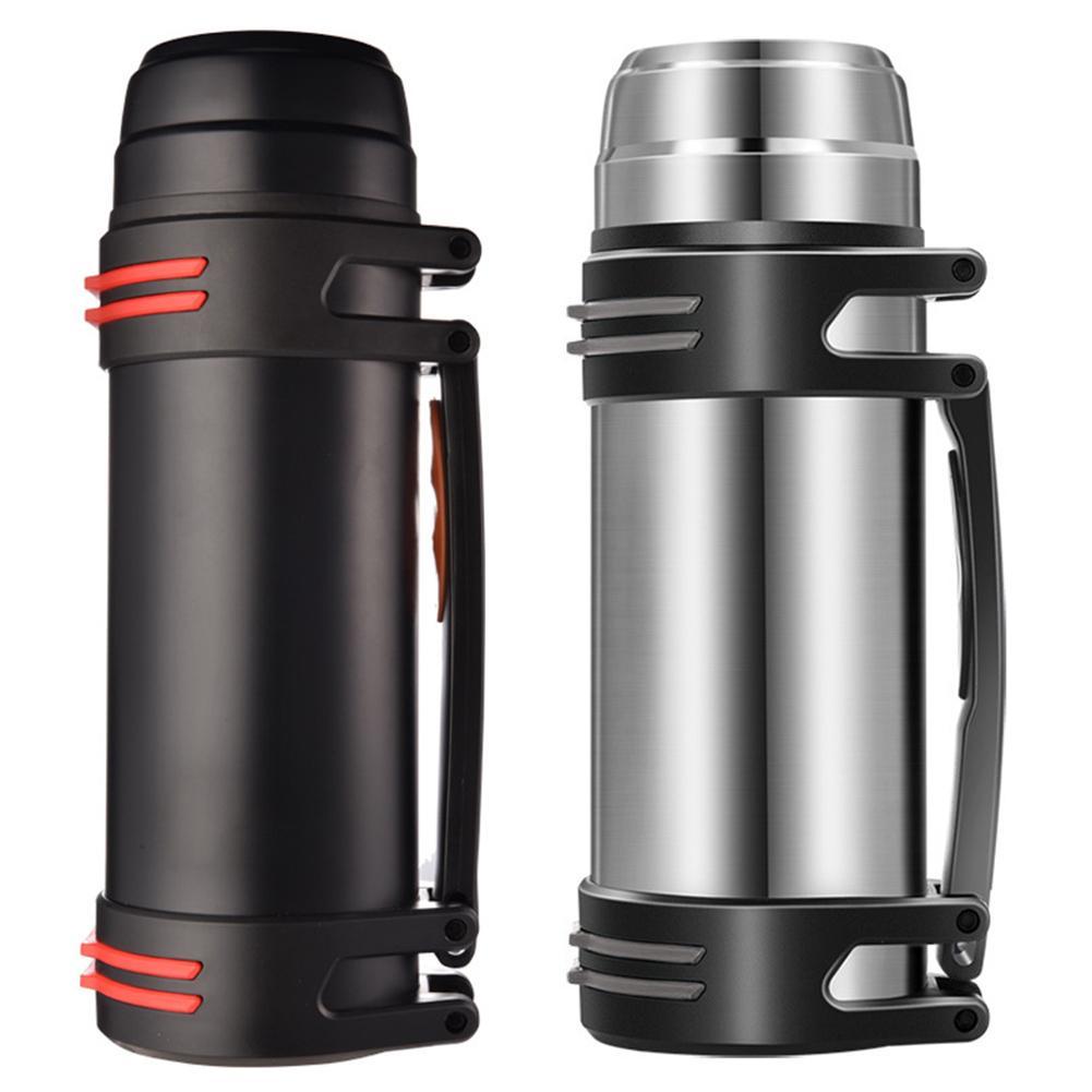 Уличная чайная бутылка, портативная Спортивная бутылка для воды 2,5 л, модная прямая чашка, вакуумная фляжка, фотоизолированные чашки