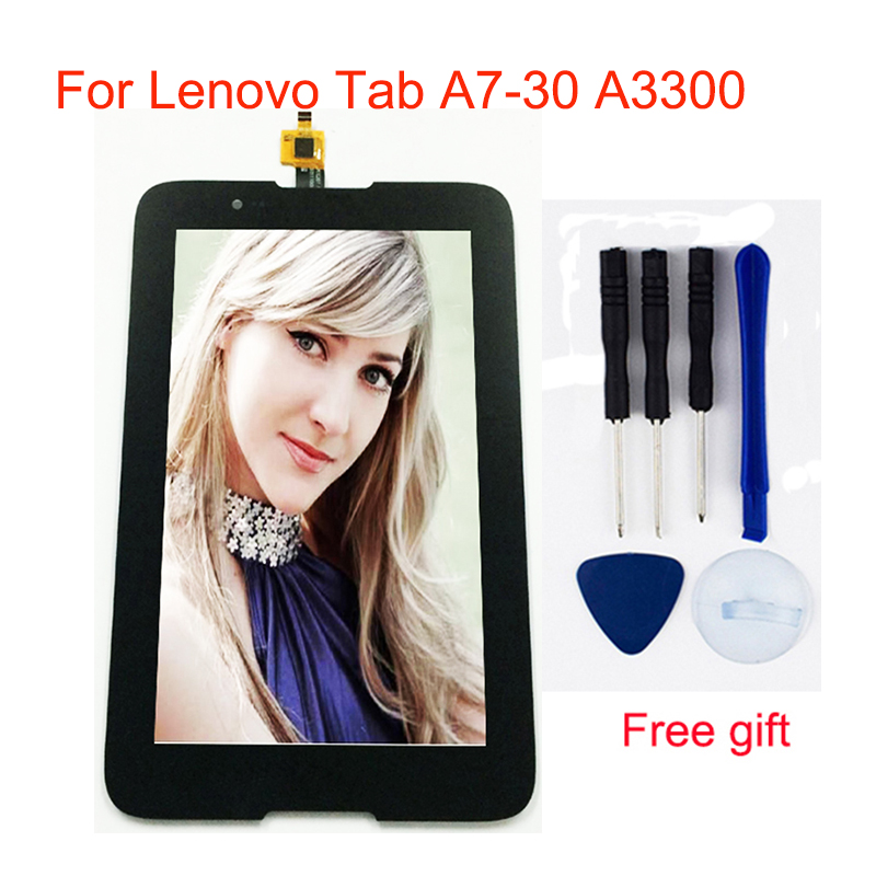 LCD For Lenovo Tab A7-30 A3300 LCD A3300T A3300-GV A3300-HV Digitizer LCD Screen Display Panel Touch Screen Panel Sensor Glass