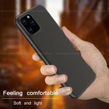 Silicone protective case For iPhone 7 8 Plus 11 Pro Shell for iPhone 6 6s Plus 11 Pro Max Full Body Soft TPU Phone Back Cover(China)