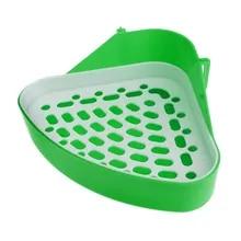 Pet Rabbit Small Animal Pee Toilet Potty Bowl Corner Clean Litter Trays Hot