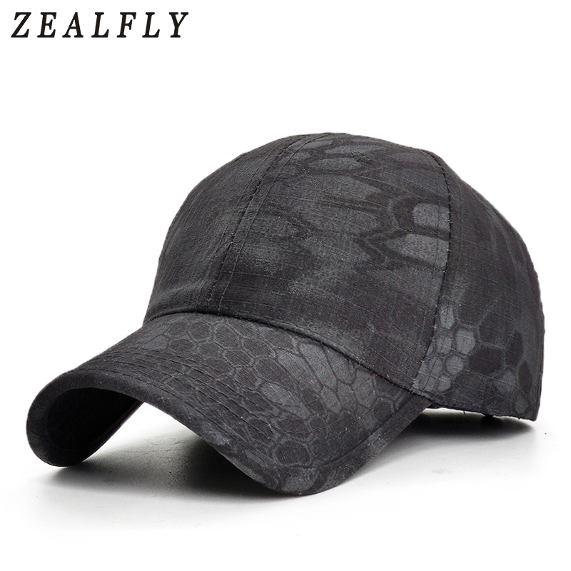Men Camouflage Hunting Army Baseball Caps Python Pattern Tactical Fishing Cap Adjustable Snapback Hats For Women
