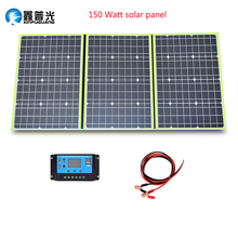 Xinpuguang Brand 150w 20v mono solar panel flexible foldable 50w*3 for home charger kit controller 5v usb 12v battery china