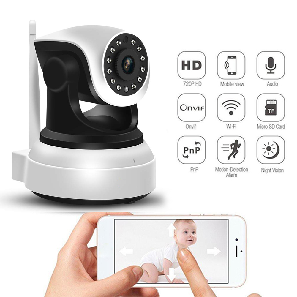 2.4Ghz WiFi Pet Camera iOS//Android//Windows Security Camera System Wireless 1080P Surveillance Camera with 2 Way Audio Night Vision,Auto-Cruise Activity Alert Motion Tracker