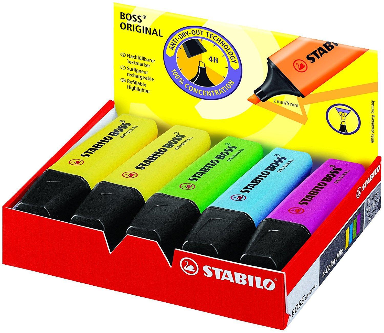 1pc STABILO 9-color Fluorescent Pen, Marker Pen