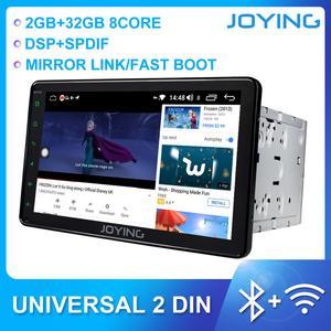 Image 1 - JOYING autoradio 2 din Android 8.1 unità di testa 8 pollici IPS schermo di tocco di HD 2GB di RAM supporto dello sterzo controllo della rotella/specchio link/DSP