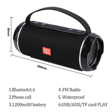 TG 116C 40 Вт Высокая мощность открытый Bluetooth динамик сабвуфер TWS водонепроницаемый портативный музыкальный центр система Колонка 3D Саундбар