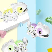 2.4CHz RC Robot Dinosaur Toys Chameleon Pet Changeable Light