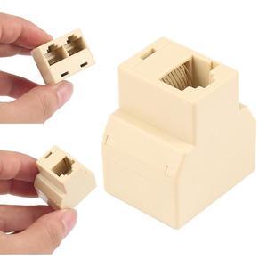 Lan Port 1 to 2 Socket Splitter RJ45 CAT5 6 Ethernet Cable Connector Adapter RJ45 Splitter Adapter 1 to 2 Socket 3 Ports Cable C