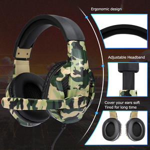 Image 5 - New 3.5mm Camouflage Gaming Headphone Professional Gaming Stereo Head mounted For PS4 PS3 Xbox Switch Headset Computer Earphones