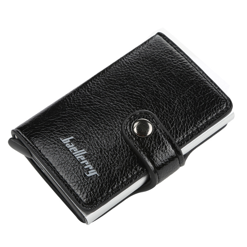 2019 New Men Card Bag Leather Automatic Popup Credit Anti-theft Package Coin Purse RFID Anti Theft Wallet