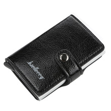 2019 New Men Card Bag Leather Automatic Popup Credit Card Bag Men Anti-theft Card Package Coin Purse RFID Anti Theft Wallet цена и фото