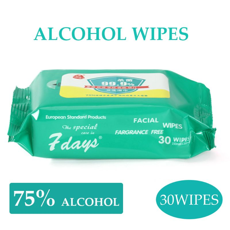 30 Wipes Disinfection 75 Alcohol Wipes Disposable Hand Sanitizer Wipes
