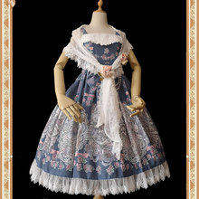 Uroczy biały Lolita koronkowy szal długie damskie szale od Infanta