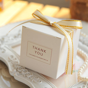 Новый Европейский простой атмосферный белый кубик конфет, коробки для свадебных вечеринок, подарочная упаковка, Детская подарочная упаков...