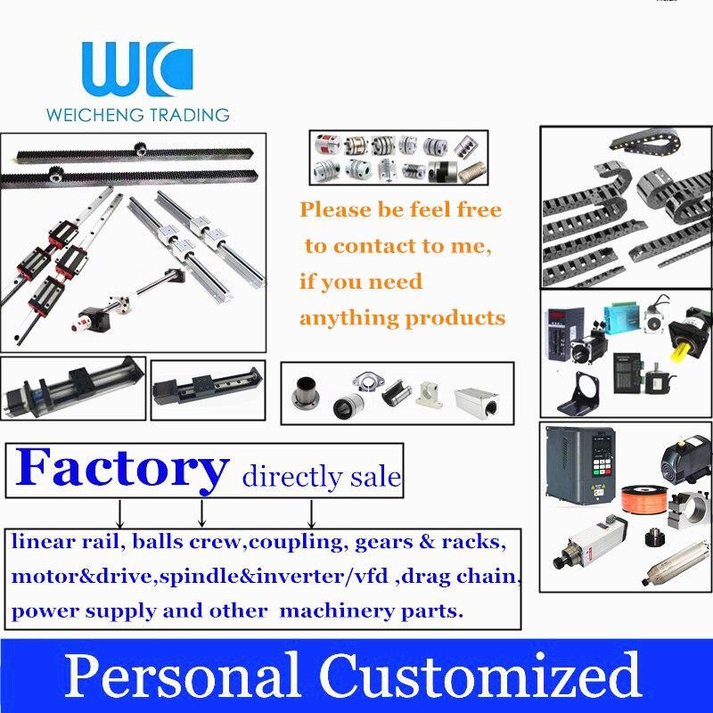 Personnalisé: guide linéaire, guide linéaire, équipe de balles, roulement, moteur, entraînement, couplage, broche, inverte et autres pièces de CNC