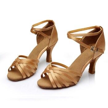 Nuevos-zapatos de baile para mujer, calzado de tacón para bailar Salsa Tango...
