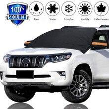 Автомобильный магнит, лобовое стекло, крышка для снега, солнцезащитный козырек, защита от заморозки, лобовое стекло, серебряное, черное покрытие, лобовое стекло, снег