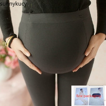 Get more info on the 1pcs High-end box 120D velvet pregnant women pantyhose large size leggings plus fat pantyhose maternity pants spring and autumn