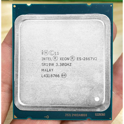 インテル Xeon E5 2667 v2 E5-2667V2 E5 2667V2 3.3Ghz 8 コア 16 スレッド 25 メガバイトのキャッシュ SR19W 130 ワットプロセッサのための適切な x79 マザーボード