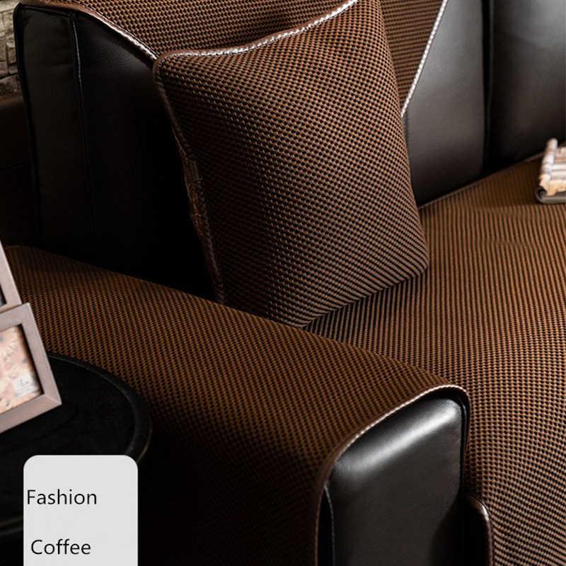 Semplice Multi-color Divano Copertura per Divano In Pelle Cuscino Speciale, Antiscivolo Pieno Cornici E Articoli Da Esposizione, divano di Colore solido Della Copertura