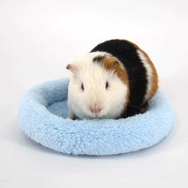 Hamster Nest Pad Winter Soft Fleece Hamster Rat Sleeping Bed Guinea Pig House Sofa Warm Rabbit Cages Small Animal Supplies