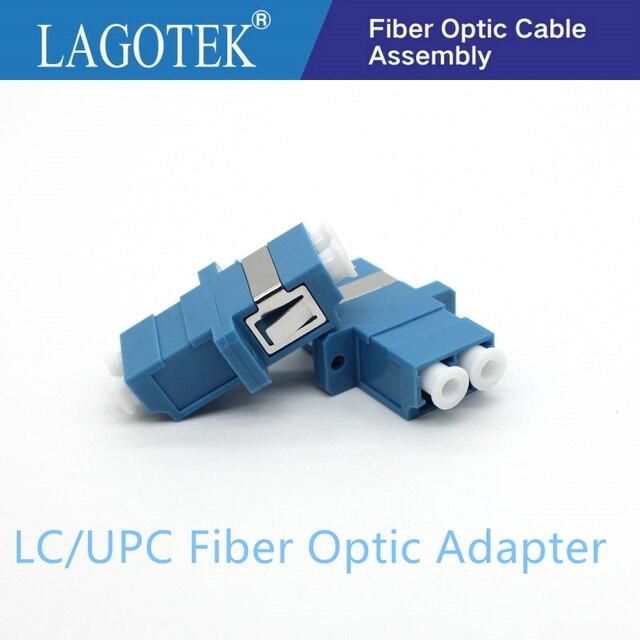 25/50/100/200Pcs LC UPC Duplex single mode Fiber optic Adapter LC Optical fiber coupler LC UPC Fiber flange LC connector