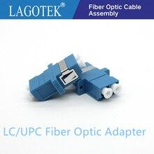 LC Adaptador De Fibra óptica LC UPC Duplex single mode de fibra Óptica acoplador flange De Fibra LC UPC LC conector Livre grátis