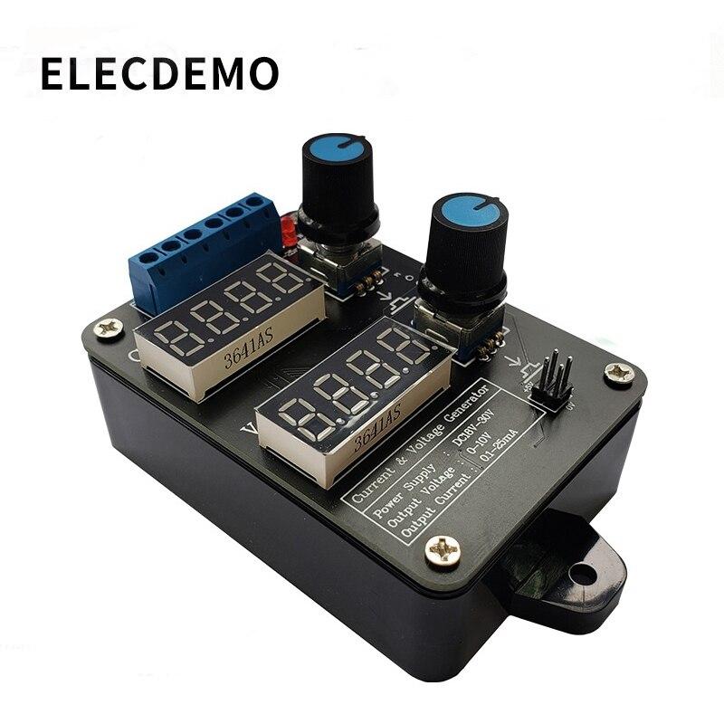 High Precision Handheld 0-5V-10V Voltage 0-4-20mA Current Generator Signal Generator Current Source