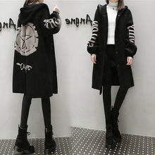New Plus Size Woolen Cardigan For Women Long Loose Knitted Trench Coat Casual Ho
