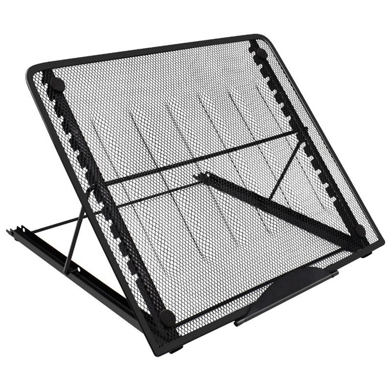 Laptop-Stand Desktop Folding Adjustable Mesh Black for Ventilation