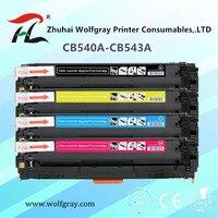 CF210A 540A טונר מחסנית CB540A CB541A CB542A CB543A עבור HP Color LaserJet CP1215 CP1515n CP1518ni CM1312 מדפסת