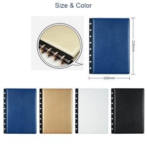 Image 5 - Fromthenon A5 버섯 Discbound 노트북 가죽 커버 8 구멍 느슨한 잎 나선형 플래너 바인딩 커버 사무실 학교 편지지