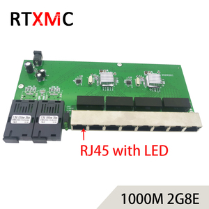 Image 5 - 2G8E 8UTP RJ45 Gigabit Ethernet Switch 2*1,25G Faser port SC stecker 8*10/100/100 0M PCBA Bord Fibra optische Konverter platte